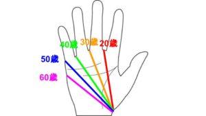 手相 生命線 年齢 流年法